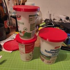 IMG_20201004_193727.jpg Download STL file yogurt cup lid ( joghurtbecher deckel ) • 3D print model, stefanwalch84