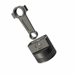 IMG-0607.jpg Download STL file Piston with connecting rod • 3D printer design, richardingen