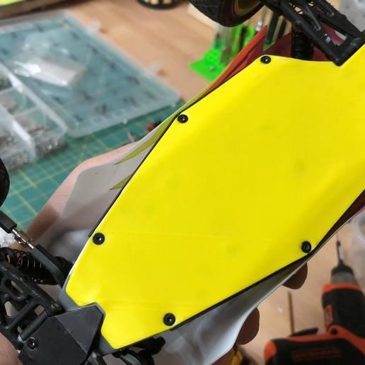 screw on.jpg Download free STL file Losi Mini-T 2.0 - Belly Plate • 3D printable design, broVuso