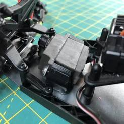 Download free STL file Losi Mini-T 2.0 - Traxxas Servo Mount • Object to 3D print, broVuso