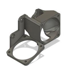 fan_mod2_1.PNG Télécharger fichier STL gratuit Support léger pour extrudeuse à double ventilateur CR10 de 40 mm • Design pour imprimante 3D, knetazor