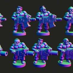 gruntsbigguns.jpg Download free STL file Wastewars - Gamma Grunt Heavies • Template to 3D print, Jazzmantis