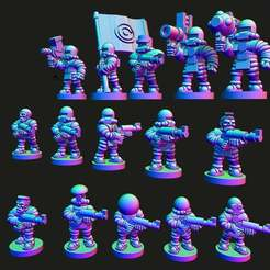 mediators.jpg Download free STL file Wastewars - Lunar Coalition Mediator troopers • 3D print design, Jazzmantis