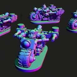 BIKES.JPG Download free STL file Small scale Space Orc Bikers • 3D print design, Jazzmantis