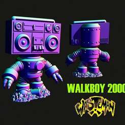 WALKBOY.JPG Download free STL file Wasteman - Walkboy 2000 • 3D printer object, Jazzmantis