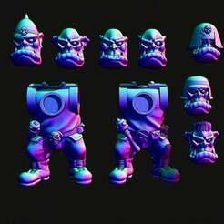 orcmercs.jpg Download free STL file Space Orc mercenary add on kit • 3D printer object, Jazzmantis