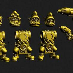 badmoons.jpg Download free STL file Retro space orc Loonies add on kit • Object to 3D print, Jazzmantis