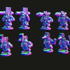 bigguns2.jpg Download free STL file Small scale Space Orcs with heavy weapons • 3D printer design, Jazzmantis