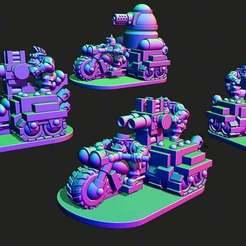 trakks.jpg Download free STL file Small scale Space Orc Half-trakks • 3D printing object, Jazzmantis