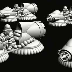 hoverbikepreview.jpg Download free STL file Wastewars - Lunar Coalition Mediator Jet-bikes • 3D printable template, Jazzmantis