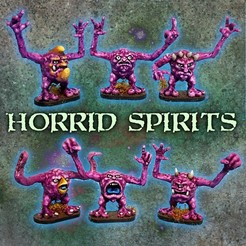 HORRIDSPIRITS.JPG Download STL file Horrid spirits  • 3D printing model, Jazzmantis
