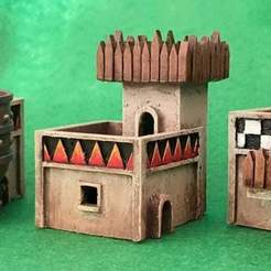 orkhouses1.jpg Download free STL file Small scale Orc dwellings • 3D printing model, Jazzmantis