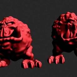 hoppers.JPG Download free STL file Orc pet Hoppers • 3D printing model, Jazzmantis