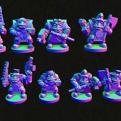 boys2.jpg Download free STL file Small scale Space Orc infantry without helmets • 3D printable object, Jazzmantis