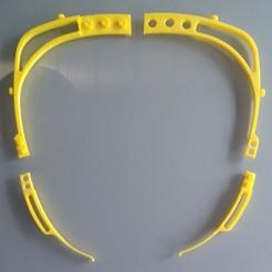 Descargar archivos STL gratis mascara montable protección covid19, ecasade2