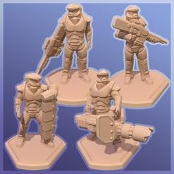 3.jpg Télécharger fichier STL Soldat de science-fiction 28mm • Design à imprimer en 3D, ThatGuyMike