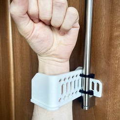 Armie Pull Handle.jpg Download free STL file Armie - Hands Free Handle • 3D print object, PrintCity
