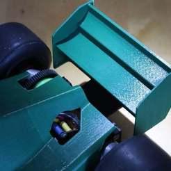 Download free 3D printing models Crash resistant rear wing to F1 cars, kent_asplund