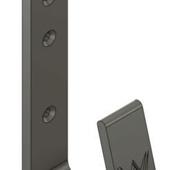 Belt Hanger.png Download free STL file WWE Belt Wall Hooks • 3D printer design, eight2stout