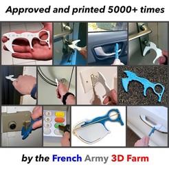 Couverture C3D CROVHYD.jpg Download free STL file CROVHYD contactless door opener/ hygiene hook • 3D print model, PhoenixEquipement