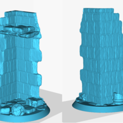 NatesFelBeastStand.png Download free STL file Sorcerer King Ruined Building Base • 3D printer design, dontha3