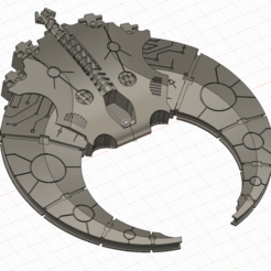 Annotation 2020-08-16 223523.png Download free STL file Necron Croissant Attack ship  • 3D printing design, Craftos