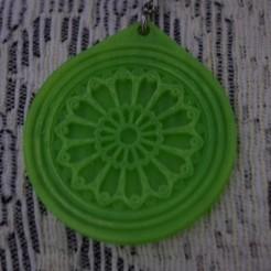 Télécharger plan imprimante 3D gatuit pendentif en rosette gothique, M_Garcia