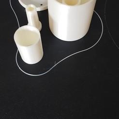 WaterBubbler.jpg Télécharger fichier STL gratuit Sas à eau de fermentation • Plan imprimable en 3D, johnydeepstroke