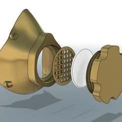 Descargar modelos 3D gratis Respirador de máscara Covid - 3D imprimible COVID-19 (Virus de la Corona), Mrdwgraf