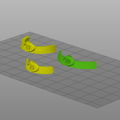 bowl1.png Download STL file Bloodbowl bowl shaped numbers nameplates • 3D print object, Wargname