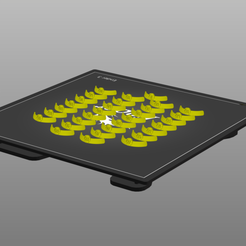 round2.png Download STL file Bloodbowl round shaped numbers nameplates • 3D printer template, Wargname