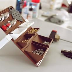 Download free 3D printing templates Sixpack - modular bulletin organizer , ferototh