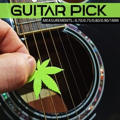 4.jpg Download STL file guitar pick (marijuana) • 3D printing template, cifrerenzo