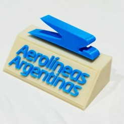 Sin título-1.jpg Download STL file Aerolineas Argentinas sculpture (easy to assemble) • 3D printable design, cifrerenzo