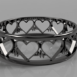 Download free 3D printer files Cardio Heart Ring, cifrerenzo