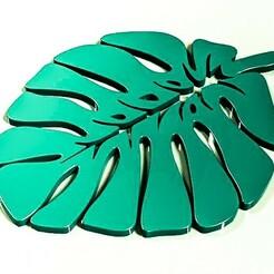 hojaaa.jpg Télécharger fichier STL Positions de verre en forme de feuille (sous-verre) • Objet pour impression 3D, cifrerenzo