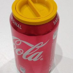 IMG_20200723_203456036.jpg Download STL file Beer and cola Can Lid - eco friendly recycle • 3D print object, Jotadue