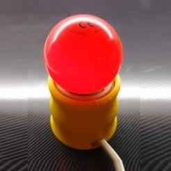 Imprimir en 3D gratis Super-Mini Bedside Lamp - No support - Velador - Lamp - Lampara, JuanjoLosardo