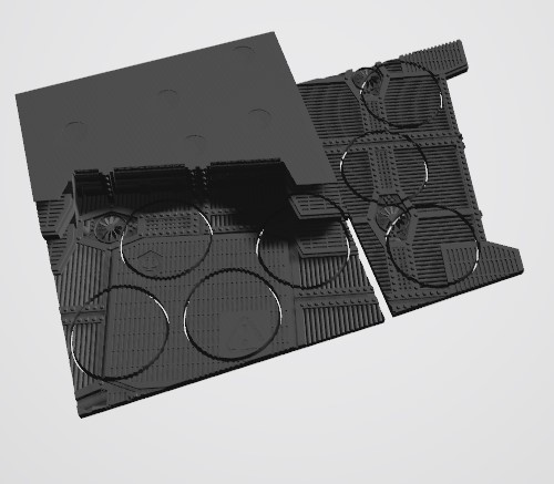 Annotation 2020-08-26 202559.jpg Download STL file 40K INDUSTRIAL BASES (Full Set!)  TABLEWAR MAGNETIC TRAY INSERT WITH BASES • 3D printer design, Z-Axis_Hobbies