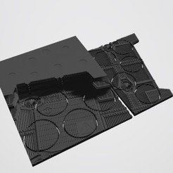 Download STL file 40K INDUSTRIAL BASES - TABLEWAR MAGNETIC TRAY INSERT WITH BASES (5 X 32MM and 4 x 40mm RIGHT TRAY) • Template to 3D print, Z-Axis_Hobbies