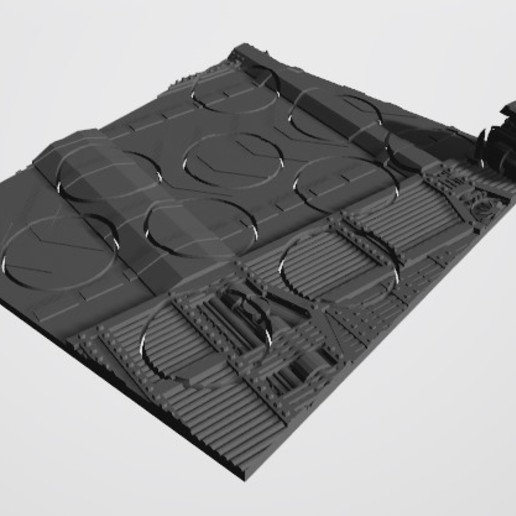 Download STL file 40K INDUSTRIAL BASES - TABLEWAR MAGNETIC TRAY INSERT WITH BASES (10x 32MM LEFT TRAY) • 3D print template, Z-Axis_Hobbies