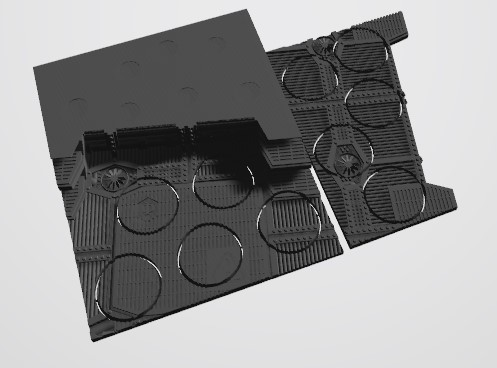 Annotation 2020-08-23 221536.jpg Download STL file 40K INDUSTRIAL BASES (Full Set!)  TABLEWAR MAGNETIC TRAY INSERT WITH BASES • 3D printer design, Z-Axis_Hobbies
