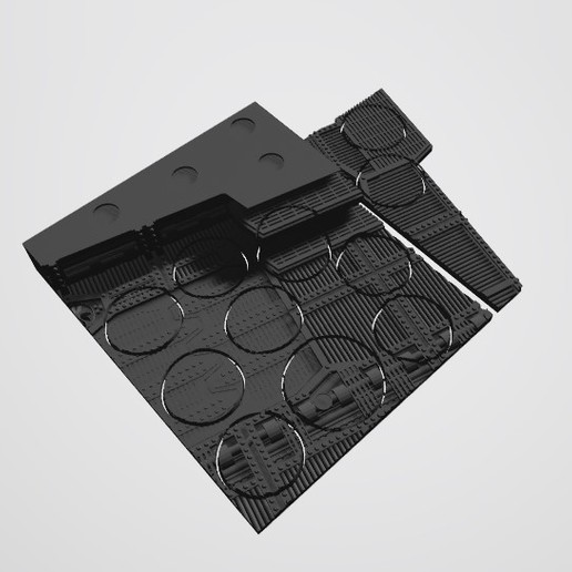 Download STL file 40K INDUSTRIAL BASES - TABLEWAR MAGNETIC TRAY INSERT WITH BASES (10 X 32MM + 1 x 40mm MIDDLE TRAY) • 3D print model, Z-Axis_Hobbies
