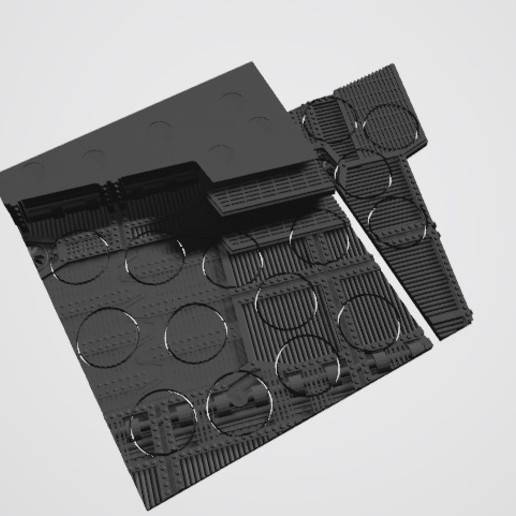 Download STL file 40K INDUSTRIAL BASES - TABLEWAR MAGNETIC TRAY INSERT WITH BASES (15 X 25MM MIDDLE TRAY) • Design to 3D print, Z-Axis_Hobbies