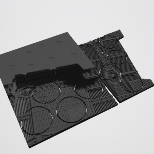 Annotation 2020-08-26 2025591.jpg Download STL file 40K INDUSTRIAL BASES (Full Set!)  TABLEWAR MAGNETIC TRAY INSERT WITH BASES • 3D printer design, Z-Axis_Hobbies