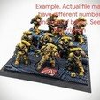 Download STL file 40K INDUSTRIAL BASES - TABLEWAR MAGNETIC TRAY INSERT WITH BASES (7 X 40MM RIGHT TRAY) • 3D print template, Z-Axis_Hobbies
