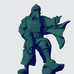 Bolter_Shovel_SGT.png Download free STL file Overly Stoic Shovel Leader with a cape • 3D printer template, BronzeAnvil