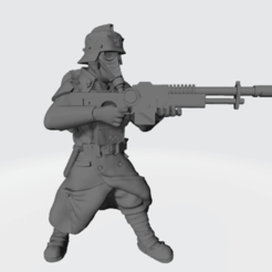 Shovel_Soldier.png Download free STL file Shovel Soldier and Arm-less Friends • Design to 3D print, BronzeAnvil