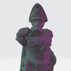DKoK_Commissar_Scaled.png Download free STL file Lord Krieg with Cape and Big Hat • 3D printable object, BronzeAnvil
