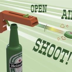 Descargar modelo 3D gratis Pistola abrebotellas, vivivictorperez